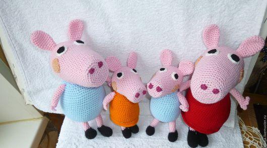 Игрушки животные, ручной работы. Ярмарка Мастеров - ручная работа. Купить Свинка. Handmade. Бледно-розовый, игрушка ручной работы