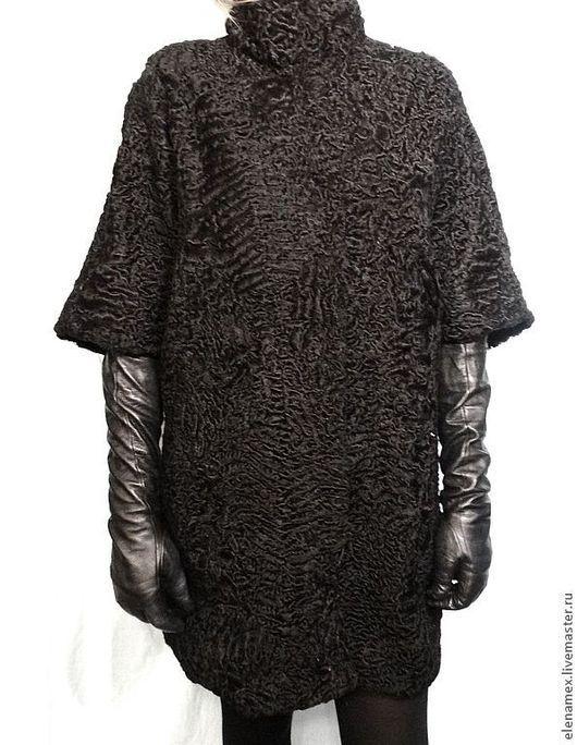 Верхняя одежда ручной работы. Ярмарка Мастеров - ручная работа. Купить Жилет из каракуля. Handmade. Черный, шубка из каракуля