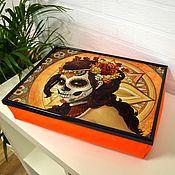 Подарки к праздникам ручной работы. Ярмарка Мастеров - ручная работа Хэллоуин. Столик-поднос на подушке. Handmade.