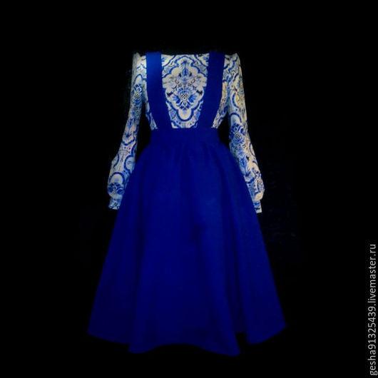 """Костюмы ручной работы. Ярмарка Мастеров - ручная работа. Купить Костюм """"Аделио"""" 1. Handmade. Синий, красивый костюм"""