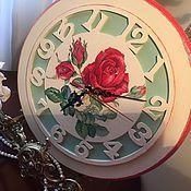 Для дома и интерьера ручной работы. Ярмарка Мастеров - ручная работа Часы настенные Королева цветов. Handmade.