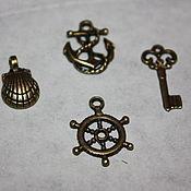 Материалы для творчества handmade. Livemaster - original item Set of sea pendants. Handmade.