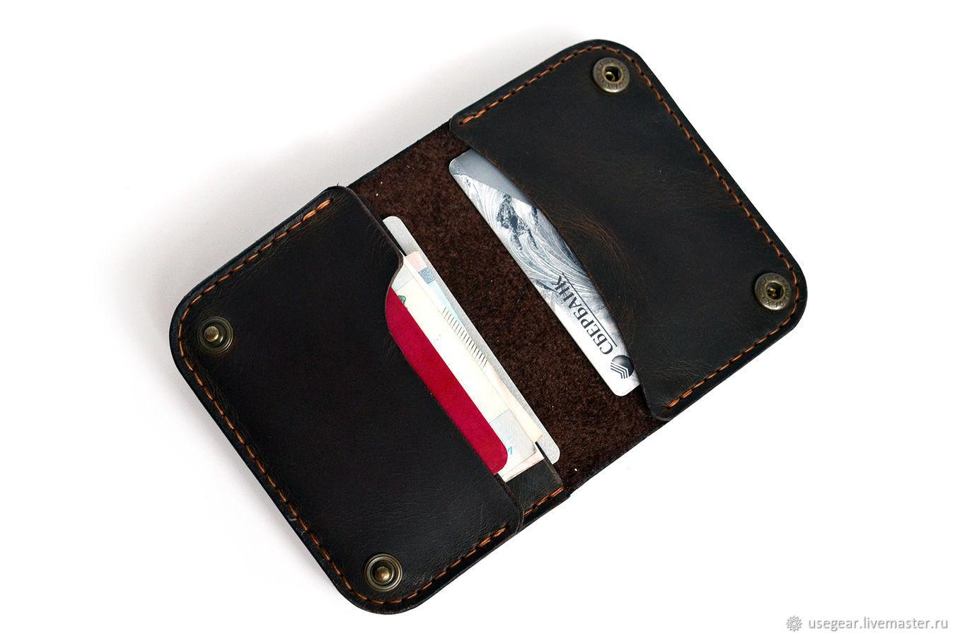 Кожаный кошелек BIF коричневый, Кошельки, Москва,  Фото №1