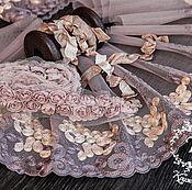 Материалы для творчества ручной работы. Ярмарка Мастеров - ручная работа Кружевной набор 402 вышивка на сетке шебби ленты набор с кружевом. Handmade.