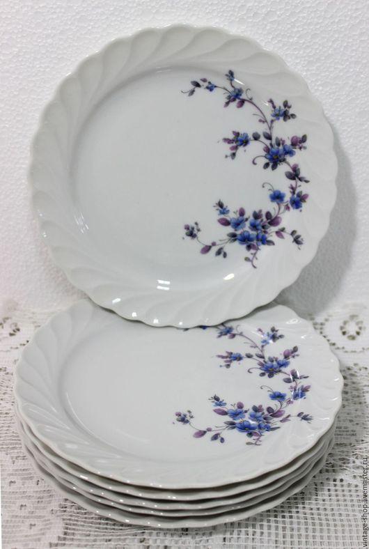 """Винтажная посуда. Ярмарка Мастеров - ручная работа. Купить Десертные тарелочки """"Schirnding Bavaria"""" W.Germany 1974 - 1989 г.г.. Handmade."""