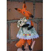 Куклы и игрушки ручной работы. Ярмарка Мастеров - ручная работа Красавица лиса (вязаная игрушка). Handmade.