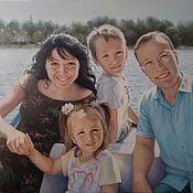 Картины и панно handmade. Livemaster - original item Family portrait. Camping.. Handmade.