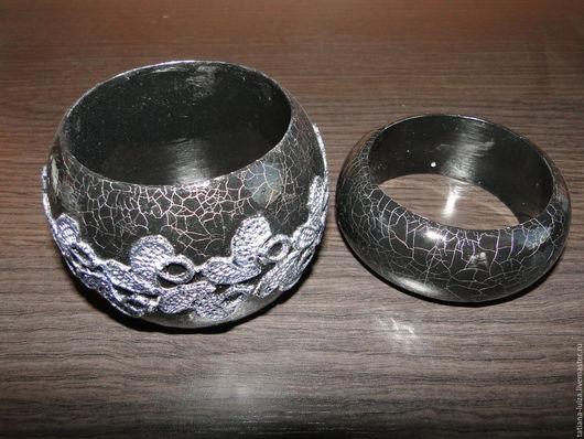 Браслеты ручной работы. Ярмарка Мастеров - ручная работа. Купить Комплект из 2-х браслетов (черных). Handmade. Черный, кракелюр