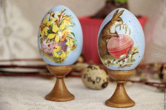 Подарки на Пасху ручной работы. Ярмарка Мастеров - ручная работа. Купить Набор пасхальных яиц . 2 шт. Handmade. Голубой