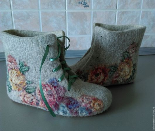 Тапочки валяные Тапочки валяные. Обувь ручной работы. Ярмарка мастеров . Купить валяные  тапочки . Тапочки валяные купить . Валяные тапочки .Тапочки валяные из войлока.Hand-maed