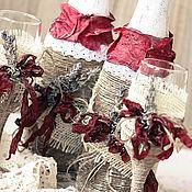 Свадебный салон ручной работы. Ярмарка Мастеров - ручная работа Свадебный набор из  с натуральной лавандой. Handmade.