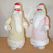 Винтаж ручной работы. Ярмарка Мастеров - ручная работа Дед Мороз. Вата + пластмасса. Винтаж. Handmade.