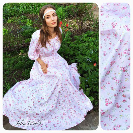 """Платья ручной работы. Ярмарка Мастеров - ручная работа. Купить Платье """"Облако роз"""". Handmade. Платье, платье летнее, розы"""