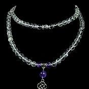 Фен-шуй и эзотерика handmade. Livemaster - original item Rosary of natural Rock Crystal 108 b.. Handmade.