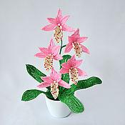 Цветы и флористика ручной работы. Ярмарка Мастеров - ручная работа Орхидея Цимбидиум из бисера. Handmade.