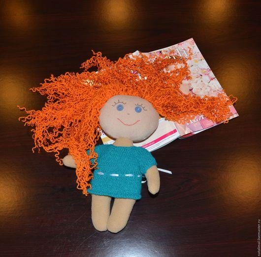 Куклы тыквоголовки ручной работы. Ярмарка Мастеров - ручная работа. Купить Кукла текстильная игровая. Handmade. Рыжий, мулине