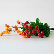 Материалы для творчества ручной работы. Ярмарка Мастеров - ручная работа Кустики с ягодами Ф137. Handmade.