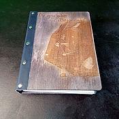 """Блокноты ручной работы. Ярмарка Мастеров - ручная работа Блокнот с деревянной обложкой """"Stars Wars"""". Handmade."""