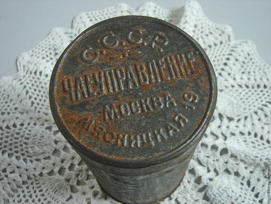 Винтажная посуда. Ярмарка Мастеров - ручная работа. Купить Старенькая чайная баночка.. Handmade. Коричневый, старинная, подарок женщине, жесть