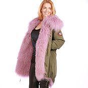 Одежда handmade. Livemaster - original item Jacket universal fur-lined purple. Handmade.