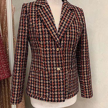 Одежда ручной работы. Ярмарка Мастеров - ручная работа Жакет из итальянского твида. Handmade.