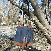 Сумки и аксессуары handmade. Livemaster - original item Torba JEANS, leather. Handmade.