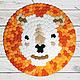 Текстиль, ковры ручной работы. Купить ковер ручной работы «Оранжевый лев». C O N C E N T R I C, concentriс. Ярмарка Мастеров.