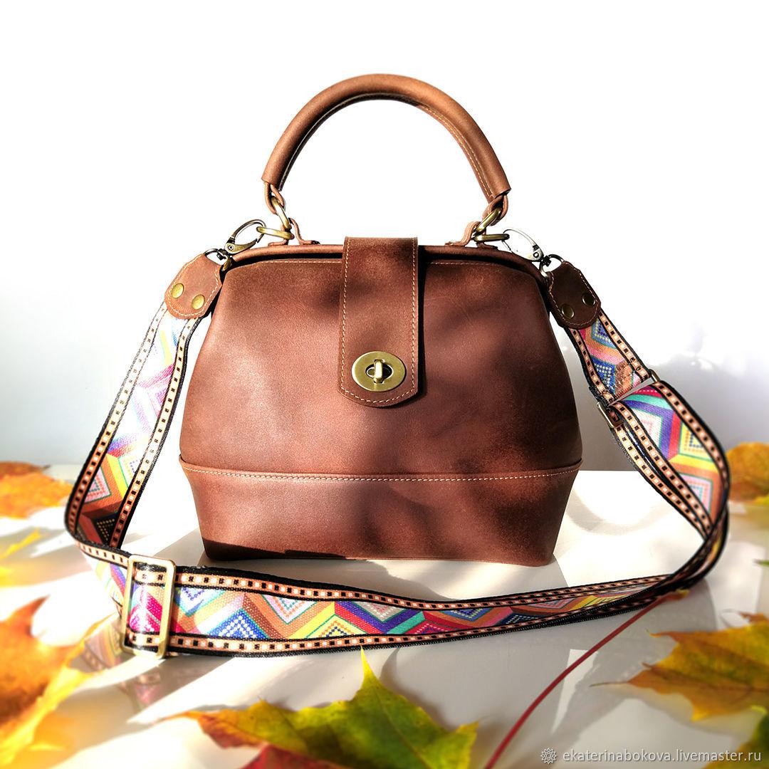 Сумка Саквояж винтажная кожа, Классическая сумка, Фрязино,  Фото №1