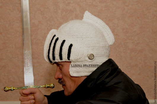Шапки и шарфы ручной работы. Ярмарка Мастеров - ручная работа. Купить шапка гладиатора. Handmade. Комбинированный, шапка вязаная