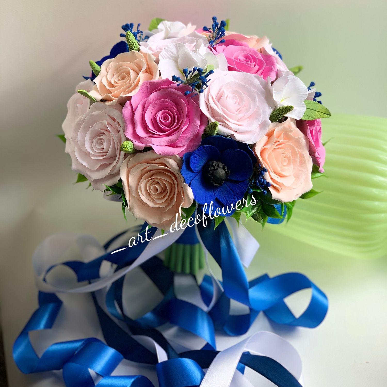Букет невесты из полимерной глины, Свадебные букеты, Москва,  Фото №1