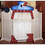 Куклы и пупсы ручной работы. Ярмарка Мастеров - ручная работа (01)Раскладная ширма для кукольного театра. Handmade.