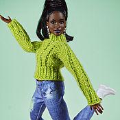 Куклы и игрушки handmade. Livemaster - original item Sweaters for barbie dolls, knitted sweater, green collection. Handmade.