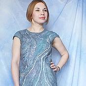 Одежда ручной работы. Ярмарка Мастеров - ручная работа Валяное платье ...Серебро утренних туманов. Handmade.
