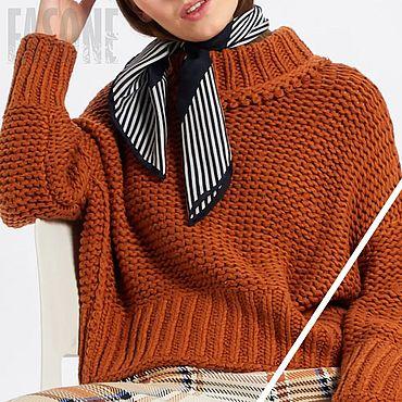Одежда ручной работы. Ярмарка Мастеров - ручная работа Свитеры: Женский свитер мягкий толстой вязки. Handmade.