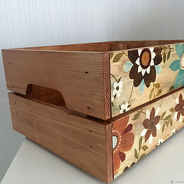 """Для дома и интерьера ручной работы. Ярмарка Мастеров - ручная работа Ящик для хранения """"Уютный дом"""". Handmade."""
