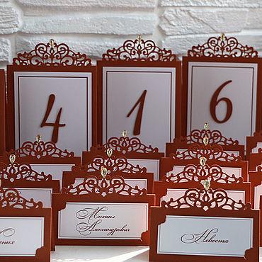"""Свадебный салон ручной работы. Ярмарка Мастеров - ручная работа """"Шоколад"""" рассадочная карточка. Handmade."""