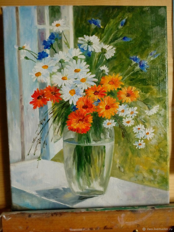Flower Paintings handmade. Livemaster - handmade. Buy Summer bouquet.Summer bouquet, oil