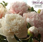Цветы и флористика handmade. Livemaster - original item Peony bouquet from polymer clay (cold porcelain). Handmade.