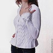 Одежда handmade. Livemaster - original item White blouse with peplum