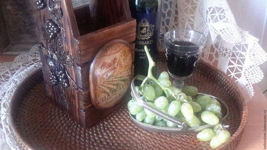Корзины, коробы ручной работы. Ярмарка Мастеров - ручная работа. Купить Короб для вина.. Handmade. Короб для вина, шале, шеллак