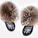 """Обувь ручной работы. Эксклюзивные Ugg's """"Snowflake"""". Art_Boutique 'LazStyle'. Интернет-магазин Ярмарка Мастеров. Угги, угги с вышивкой"""