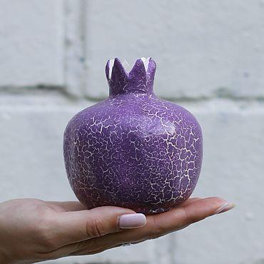 Посуда ручной работы. Ярмарка Мастеров - ручная работа Керамическая вазочка (гранат сиреневый средний). Handmade.