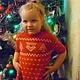 """Одежда для девочек, ручной работы. Ярмарка Мастеров - ручная работа. Купить вязаное детское платье """"Рождественская сказка"""". Handmade. Орнамент"""