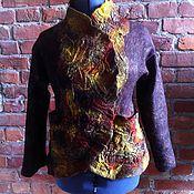 """Одежда ручной работы. Ярмарка Мастеров - ручная работа Жакет валяный """"Кора"""". Handmade."""
