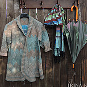 Одежда ручной работы. Ярмарка Мастеров - ручная работа Кардиган вязаный Микс, кардиган. Handmade.