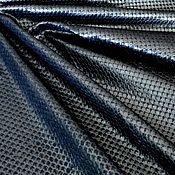 Материалы для творчества handmade. Livemaster - original item Genuine cow leather - Black silver with 1,2 mm flakes. Handmade.