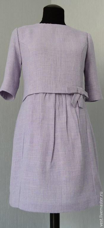 Платья ручной работы. Ярмарка Мастеров - ручная работа. Купить Платье в стиле 50-х. Handmade. Сиреневый, нежное платье