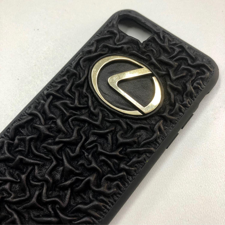 Кожаный чехол на айфон с  с логотипом для примера, Именные сувениры, Ессентуки,  Фото №1