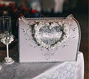 """Свадебный салон ручной работы. Ярмарка Мастеров - ручная работа Сундучок для подарков """"Сердце"""". Handmade."""