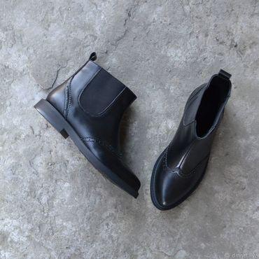 Обувь ручной работы. Ярмарка Мастеров - ручная работа Челси женские кожаные. Handmade.